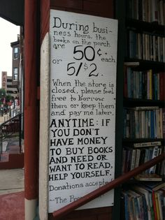 this is what I love about Independent bookstores~  small bookstore in West Virginia | Duck Duck Gray Duck