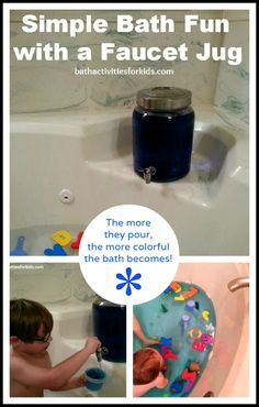 Bath Activities for Kids: Simple Bath Fun With a Faucet Jug
