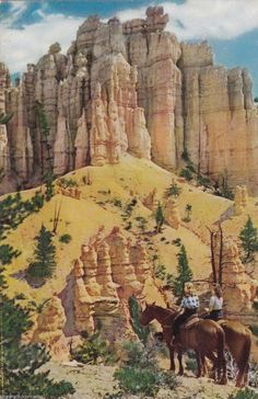 Union Pacific Railroad Postcard Bryce Canyon