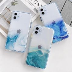 Cute Gradient Marble Cute Phone Case For iPhone 11 Pro Max SE 2020 X XR XS Max 7 8 Plus Clear Shiny Glitter Shockproof Coque | Touchy Style Pretty Iphone Cases, Cute Phone Cases, Iphone Phone Cases, New Iphone, Iphone Shop, Cool Cases, Phone Cases Marble, Marble Case, Iphone 7 Plus