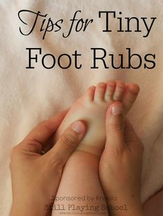 Baby Massage: Tips for Tiny Foot Rubs -- HA! I've been getting Randy in my pre-K class to go to sleep with foot rubs. It works! ;)