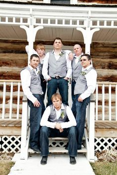Guys are definitely in jeans at my wedding