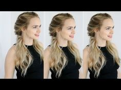 Here's a quick and easy hair tutorial on this twisted pigtail hairstyle which Margot Robbie…