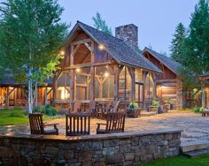 Rustic Ranch House Plans with Porches   Modern Ranch Style Home Plans Architecture: Rustic Patio Design with ...