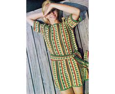 Vintage 70's crochet beach tunic PATTERN. Summer by KnitHappensMTL