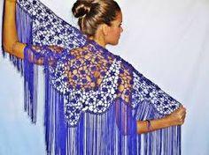 mantoncillos de ganchillo para trajes de flamenca