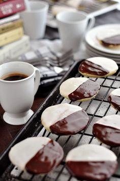black & white cookies.