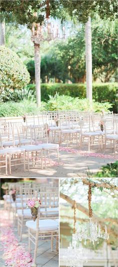Elegant Vintage Romance Wedding ceremony