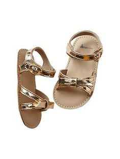 Metallic knot sandals - Gabby needs these in her wardrobe!