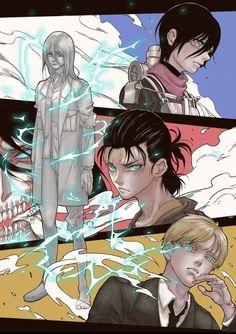 Attack on Titan Armin, Eren Aot, Eren X Mikasa, Ereri, Levi Titan, Attack On Titan Season, Attack On Titan Anime, Attack On Titan Crossover, Anime Amor
