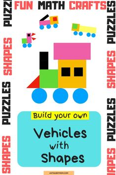 Shapes Puzzle Crafts, Animals Shapes Craft for kids and little toddlers. Kids of all ages from Preschool, kindergarten to primary grade, everyone will enjoy making these simple and easy animal crafts. Puzzle Crafts, Math Crafts, Preschool Crafts, Fall Preschool Activities, Preschool Kindergarten, Fun Crafts For Kids, Kids Diy, Craft Kids, Toddler Crafts