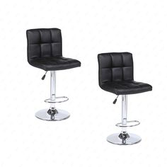 "Mordern Leather Adjustable Bar Stools Swivel Pub Chair (Set Of 2) Black. Set of 2. Product dimensions: 17.5"" x 19.25"" x 36.25"". 360 swivels: Yes. Adjustable size: 32.75"" To 40.5"". Maximum user weight: 330lb."