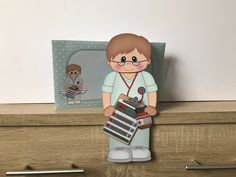 Excited to share this item from my #etsy shop: Younger male doctor/nurse/hca, birthday card, get well, thank you, congratulations, 3d on the shelf card and envelope Purchase Card, Male Doctor, Handmade Envelopes, Folded Up, Get Well, All Design, New Baby Products, Birthday Cards, Congratulations