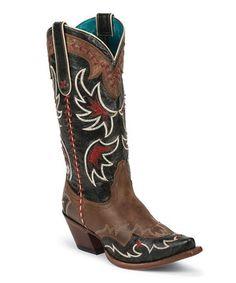 Look at this #zulilyfind! Tony Lama Saddle Cassidy Leather Cowboy Boot by Tony Lama #zulilyfinds