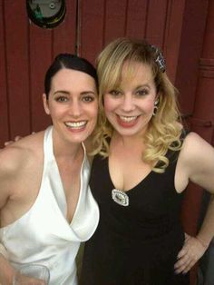 Paget Brewster and Kirsten Vangsness backstage at Thrilling Adventure Hour Largo