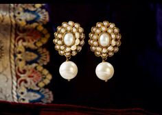 Lovely pearl drops - Buy earrings online- The Rainbow Trunk