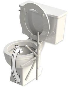 TadPole Twist, la brosse WC réinventée. La technologie, l'innovation et la nouveauté touchent beaucoup de domaines mais il en est un qui n'a pas forcément suivi la tendance de tout ce renouveau: celui des accessoires de salle de bain et plus particulièrement la brosse à toilettes. Innovation, Toilets, Technology, Everything