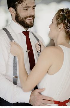 Intimate wedding couple shot with the bride in a relaxed white dress and red belt and the groom in a neat navy suit with a deep red tie! Wedding Groom, Wedding Couples, Couple Shots, Red Belt, Groom And Groomsmen, Michigan, White Dress, Wedding Inspiration, Backyard