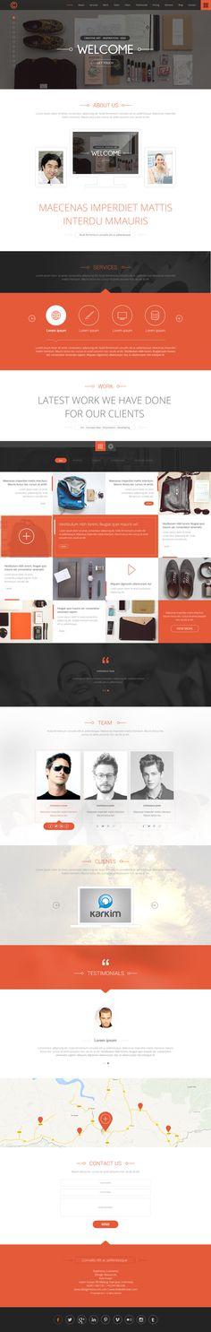 One Page Paralax Web template by Parag Purkait, via #Behance #Design