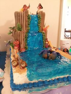 Stunning Moana birthday cake created by Ginette Norris for SJ Russell's birthday celebration