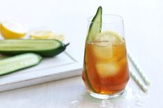 No barbecue is complete without a gorgeous array of salads. And while you're chopping up the cucumbers, set a few slices aside for a welcoming PIMM's Cooler.
