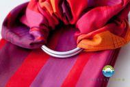 Little Frog raspberry rhodonite ring sling