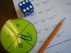Integers with dice and spinner
