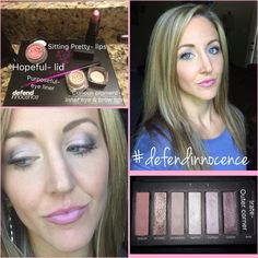 This is my friend Kristen. Look how gorgeous she looks wearing the #defendinnocence bundle products 😍😍😍 #heavenlymakeup #USA #UK #Canada #Mexico #Germany #France #Spain #Australia #NewZealand