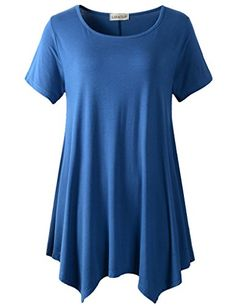 Lanmo Womens Swing Tunic Tops Loose Fit Comfy Flattering ... https://www.amazon.com/dp/B06XTSZ1RV/ref=cm_sw_r_pi_dp_x_87l6yb3SAEGST