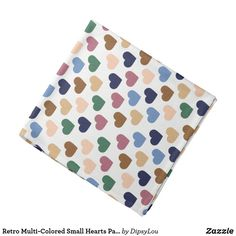 Retro Multi-Colored Small Hearts Pattern Bandana Summer Accessories, Small Heart, Heart Patterns, Organizing Your Home, School Spirit, Gifts For Dad, Print Design, Create Your Own, Vibrant Colors