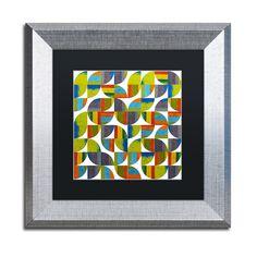 Michelle Calkins 'Quarter Rounds 5.0' Matted Framed Art