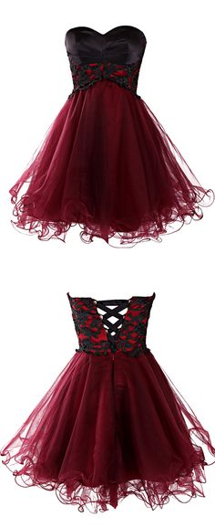 burgundy homecoming dress, sweetheart homecoming dress, mini homecoming dress, cute homecoming dress, A-line homecoming dress, homecoming dress with appliques, cheap homecoming dress, 2016 homecoming dress,#homecoming #2016 #burgundy #cheap