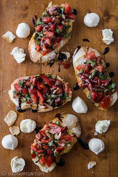 tomato and basil bruchetta (would be great with some strawberries too)