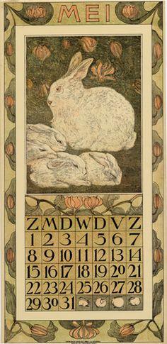 Theodoor van Hoytema, calendar 1910 may