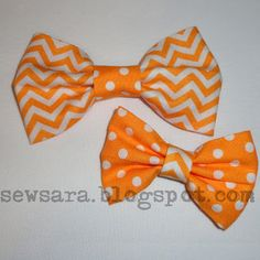 SewSara: Super Easy No-Sew Bows!