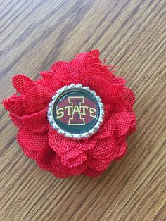 A personal favorite from my Etsy shop https://www.etsy.com/listing/503607060/iowa-state-isu-flower-hair-clip-with