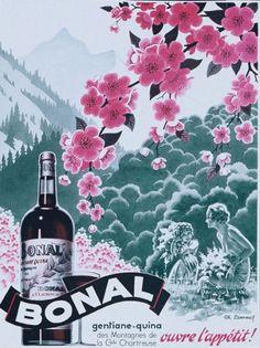 Bonal - Gentiane-quina ouvre l'appétit - 1938 - (Charles Lemmel) -
