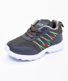 Loving this Gray & White Zigzag Running Sneaker on #zulily! #zulilyfinds