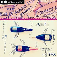 #Repost @cantine_monfort   TrentoDoc & Fish  only one more day for our #event! Dive you in a #bubbles sea with us!  #BubblesFish  #trentinodavivere #winetasting #winelovers #winetime #sparkling #bollicine #trentodoc #trentino #bottle #fish