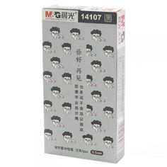 """M&G 14107 """"Grow Yourself"""" 0.5 mm Pen,  4 ver. (Black Ink)"""