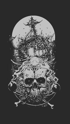 Scary Wallpaper, Skull Wallpaper, Gothic Wallpaper, Phone Backgrounds, Wallpaper Backgrounds, Arte Punk, Satanic Art, Occult Art, Gothic Art