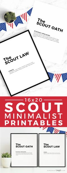 Our minimalist Boy Scout Oath and Law Printables will make the perfect accessory to your next court of honor or pack meeting! Cub Scout Oath, Boy Scout Law, Scout Mom, Girl Scout Swap, Girl Scout Leader, Cub Scouts, Eagle Scout Ceremony, Pack Meeting, Scout Activities