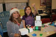 Starting the Brick Snowmen! Mya & Shelby