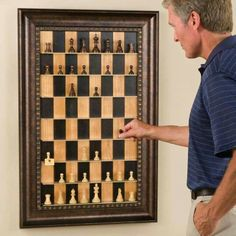 This reminds me, paint chess board on the square table and put pieces on it.
