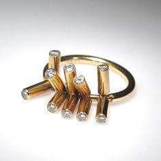 18K Gold, Diamonds (0.45ct - H quality) 14K Rose Gold, Diamonds (0.45ct - H quality)