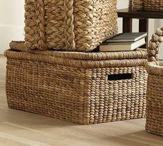 Beachcomber Lidded Basket #potterybarn