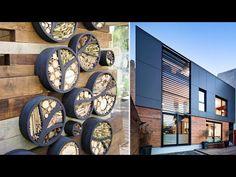 Exterior Wall Design, Wall Decor Design, Outdoor Walls, Textured Walls