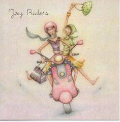 Joy Riders Berni Parker Designs Card. £2.75 - FREE Postage.