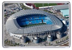 Etihad Stadium Football Stadium City Manchester Aerial Image Fridge Magnet 01
