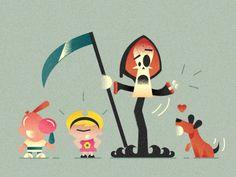 Classic Cartoon Art Series: The Grimm Adventures of Billy & Mandy - Adam Quest
